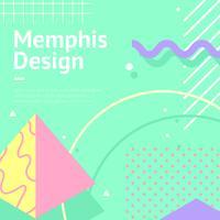 Memphis Background Aqua Vector