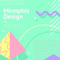 memphis background aqua vector