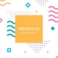 Fondo plano de Vector de Memphis