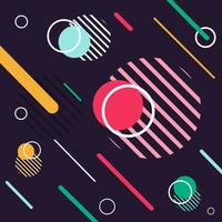 Abstract Memphis Background vector