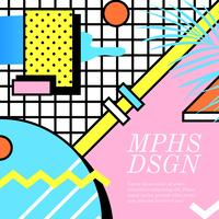 Memphis ontwerp lay-out Vector