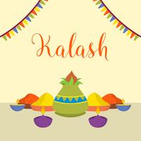Illustration vectorielle de Kalash plat