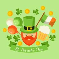 Grattis på St. Patrick's Day Vector