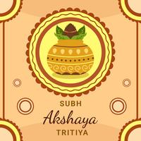 Akshaya Tritiya Festival WIth Kalash Vector