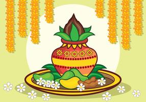 Ugadi Vector Illustration