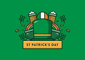 Vecteur de jour de St Patrick