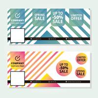Sale Facebook Cover Template vector