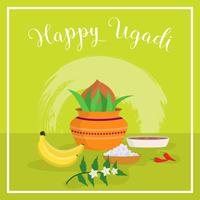 Illustration vectorielle plane Ugadi