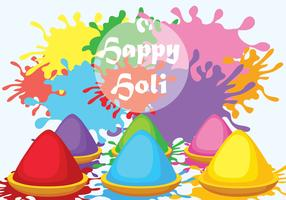 Happy Holi Vector Illustration