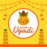 Happy Ugadi Vector Background