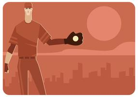 Cool Baseball Player Vector