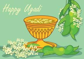 Ugadi-Vektor-Illustration