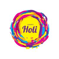 Happy Holi Greeting Vector