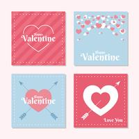 Love Valentine Card Template Set