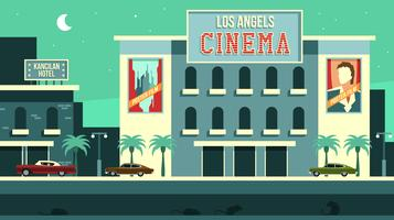 Vecteur gratuit de Vintage Los Angeles Cinema