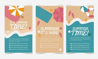 vector banners de playa