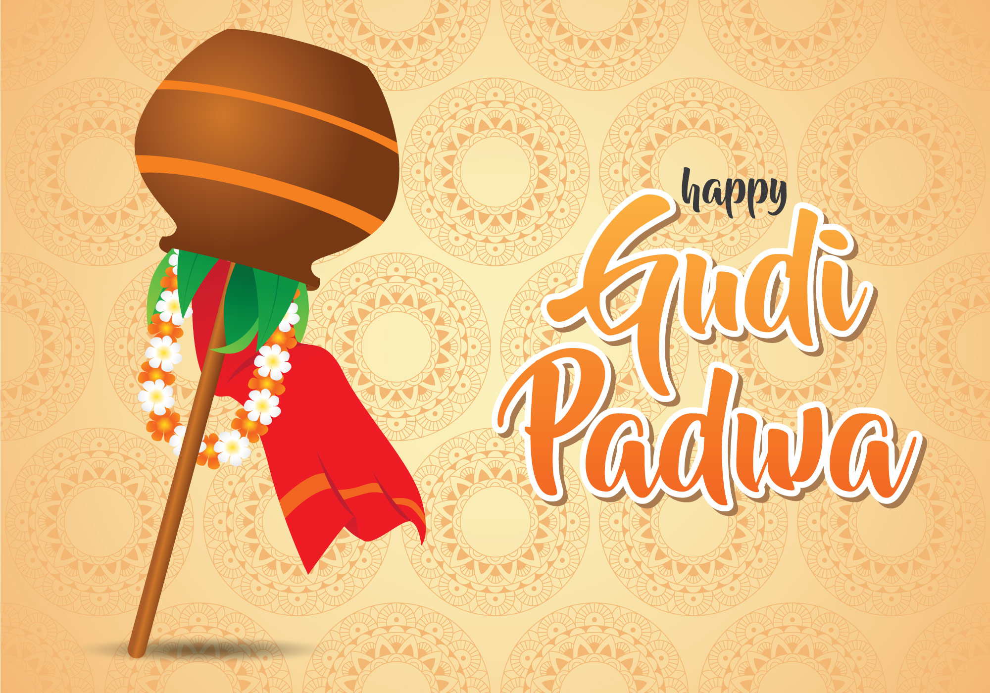 Happy Gudi Padwa Illustration Download Free Vector Art Stock