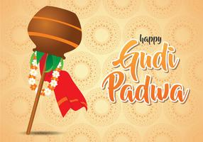 Happy Gudi Padwa Illustration