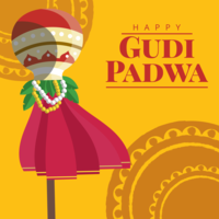 Gudi Padwa Greeting Card