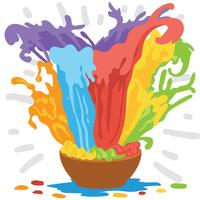 Glad Holi Illustration