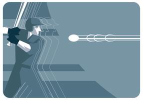 Vector de jogador de beisebol abstrato