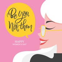 Be You Not Them Hand Lettering with Illustration Vector