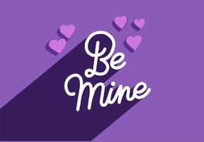 be mine valentines lettering vector