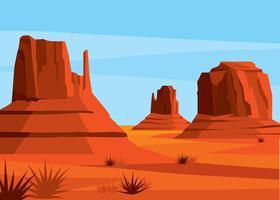 America Desert Landscape Vector