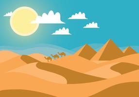 Vecteur de paysage désertique
