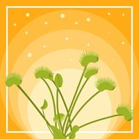 Flat Venus Fly Trap Vector Illustration