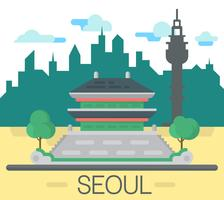 Flat Seoul-landschap