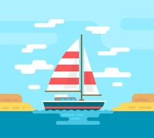 Flat Boat Illustration