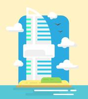 Rascacielos de estilo plano