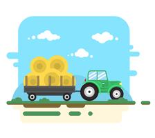 Flat Farm Illustration