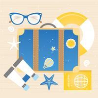 elementos vetoriais de viagens de férias de verão