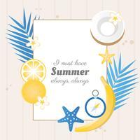 Vektor sommarhälsningskortdesign