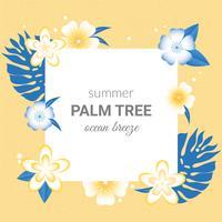 Projeto de cartão de verão do vetor