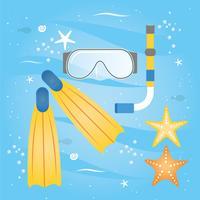 Vector verano vacaciones viajes elementos
