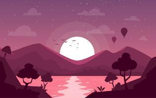 Ilustración de paisaje de vector