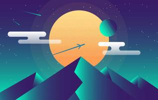Vector Abstract Landscape Illustration