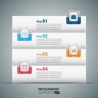 Schritt für Schritt Infografiken Vorlage