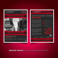 Design de flyer de brochures commerciales