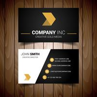 Black And Gold Minimal Business Card vector