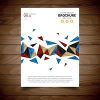 Plantilla de folleto moderno blanco con triángulos