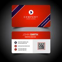 Rött företagsvisitkort