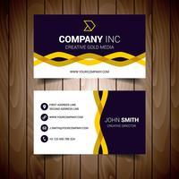 Carte de visite d'entreprise ondulée noire et jaune