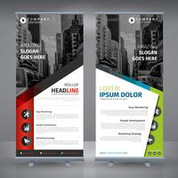 Red And Blue Business RollUp vector