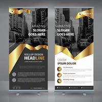 business creativo d'oro rollup