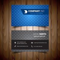 Light Blue Business Card vector