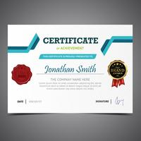 Blue And Green Diploma Template